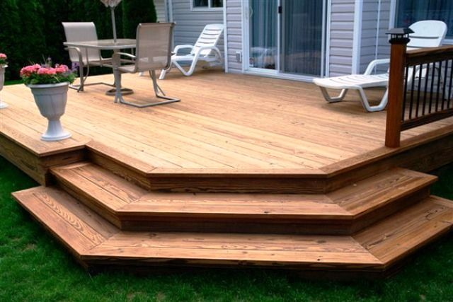 deck stair with no railing - Google Search
