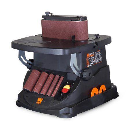 Wen 3 5 Amp Oscillating Belt And Spindle Sander 6524 Walmart Com Spindle Sander Woodworking Shop Wood Carving Tools