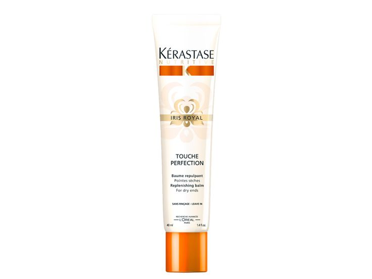 "Kérastase Nutritive Touche Perfection A backstage beauty pro dubbed this quick frizz fix the ""lip balm for hair,"" which is a genius description. Squeeze a small drop of the royal jelly and iris rhizome extract in your hand, rub it on whatever looks fuzzy (dull ends, flyaways around the crown), and your hair instantly takes on a smooth sheen — no grease in sight. — Jennifer Jackson, beauty editor"