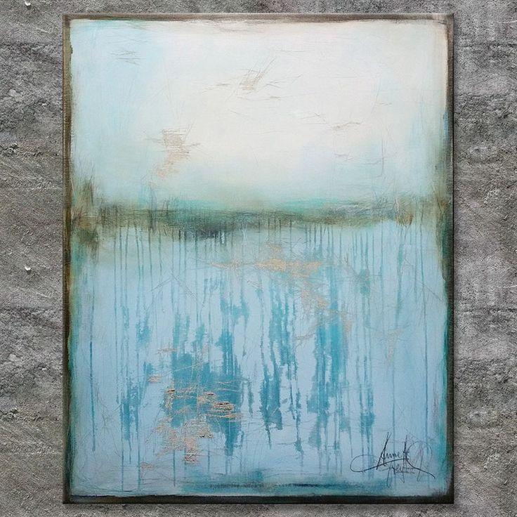 """A QUESTION OF TIME"", Acrylbild, abstrakt (L171217)"