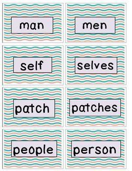 Tricky Nouns: 10 Activities to Match,Sort,Write,& Spell Irregular Nouns