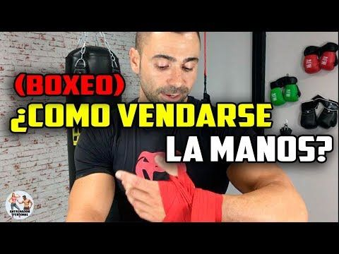 ¿Como vendarse las manos en Boxeo? || Usar vendas para Boxear y Pegar al saco - YouTube