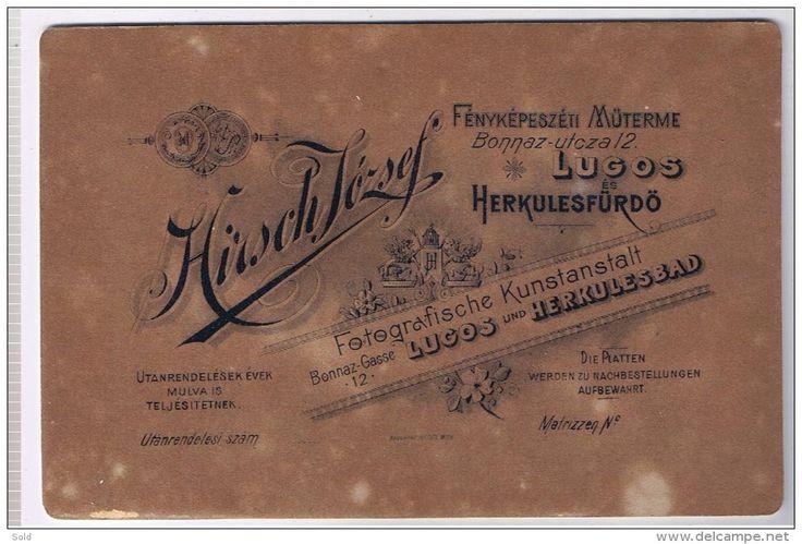 Foto carton Hirsch Iozsef Lugoj si Herculane, circa 1900