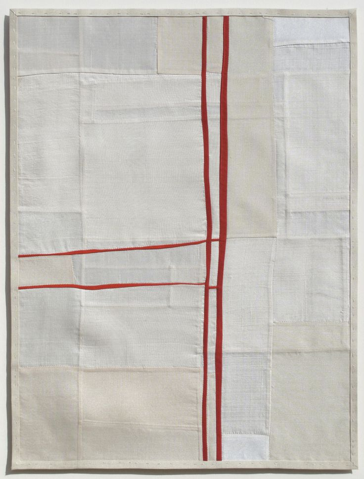 'Yielding Resistance Series, #3' (2009-2010) by American quilt artist Debra Smith (b.1971). via the artist's site