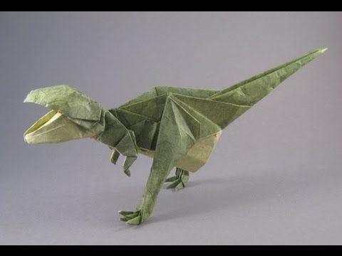 Origami How to make origami Tyrannosaurus Paper Tyrannosaurus - YouTube