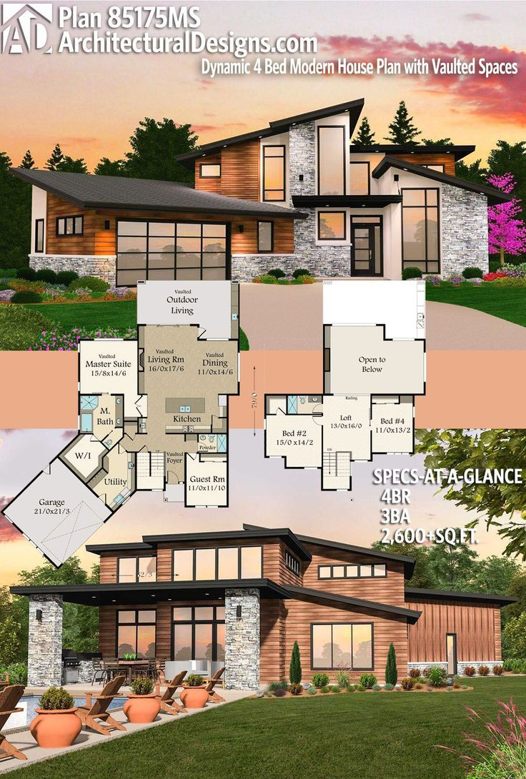 Architectural Designs House Plan 85175MS has 4