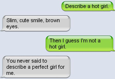 perfect message to send a girl