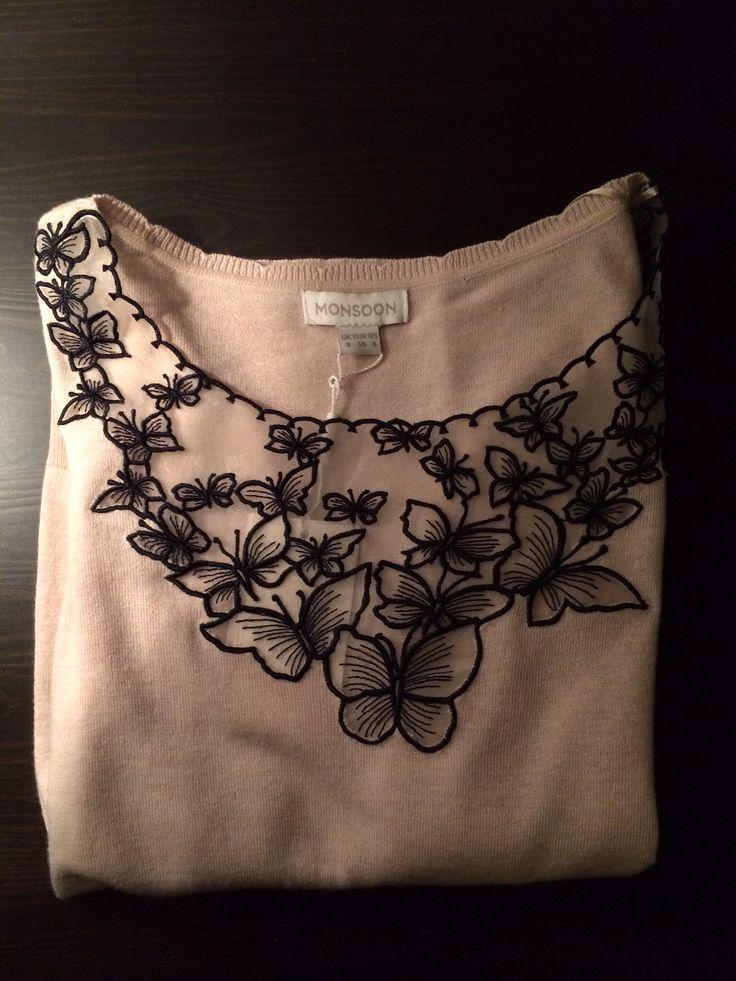Monsoon butterfly patterned blouse - ❤️