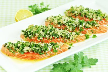 Summer herb-crusted salmon