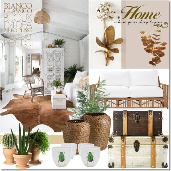 Organic Design Ideas by elena-777s on Polyvore featuring interior, interiors, interior design, home, home decor, interior decorating, Serena & Lily, Tommy Mitchell, Ethan Allen and Pier 1 Imports