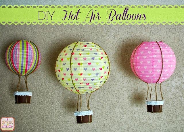 A Glimpse Inside: DIY Hot Air Balloon Tutorial