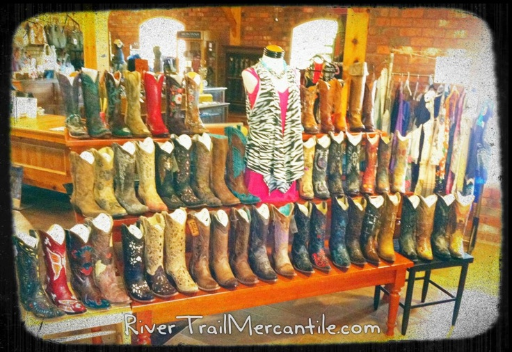 RiverTrail Mercantile Cowboy Boots. Corral Boots, Old Gringo Boots, Lucchese Boots, Lane Boots, Macie Bean Boots, ETC!