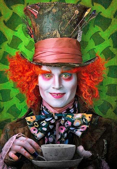 Johnny Depp as Mad Hatter in Alice in Wonderland