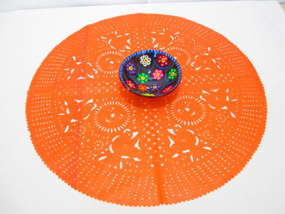 Orange Round placemats Table Décor party plates wedding dinner 23 Inches Wedding Placemat Papel picado Buy One get one free D223 & 265 best Mexican Party Decorations | Fiesta Theme Decor images on ...