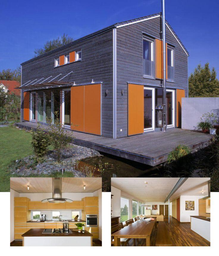 Einfamilienhaus Modern Holzhaus Satteldach Flachdach Mit: Die Besten 25+ Modernes Holzhaus Ideen Auf Pinterest
