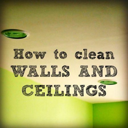 Repainting a room is a LOT of work. Here's how to clean walls and ceilings so you can extend the time between paint jobs. You'll reduce dust, too!