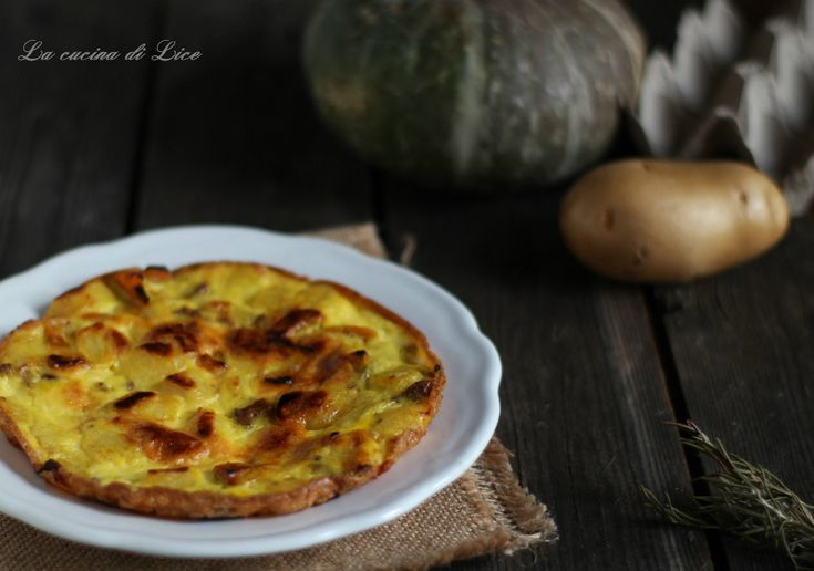 Frittatine+con+zucca,+patate+e+pancetta