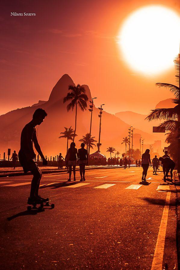 """""""Ipanema beach, Rio de Janeiro"""" by Nilson Soares, via 500px."""