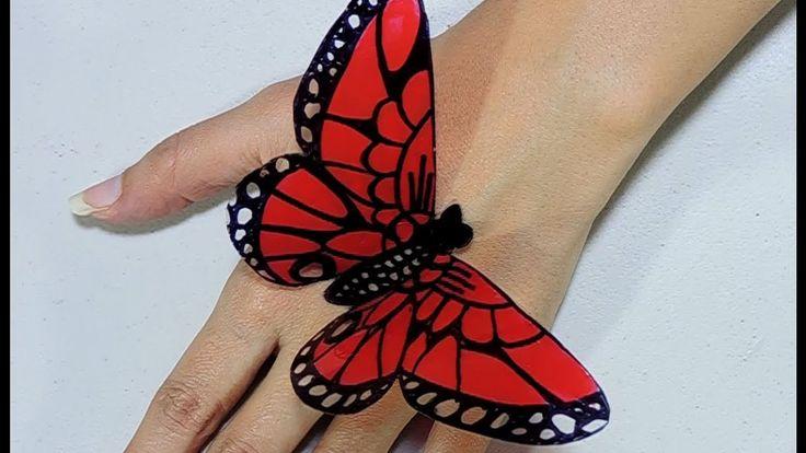 Como hacer mariposas con botellas de plástico