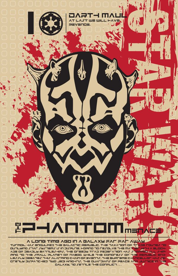 Darth Maul - Star Wars Poster Series by Kegan Rivers, via Behance