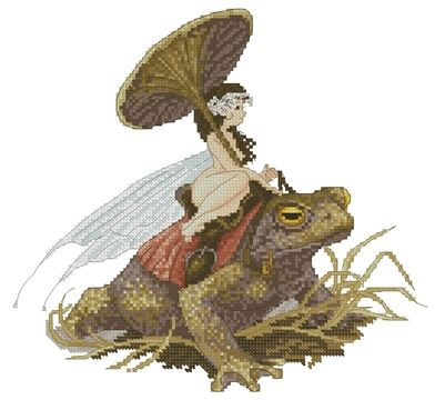Fairy on the Toad by Pascal Moguerou