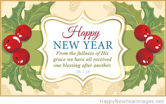 Happy new year online card saying