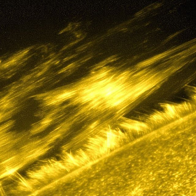 nasa The sun produces energy by fusing hydrogen in its core, so the layers surrounding the core generally get cooler as you move outwards—with one exception. This filament on the sun, a giant ribbon of relatively cool solar material, threads through the corona, the sun's atmosphere. The individual threads that make up the filament are clearly discernible in this photo. This image, captured by the Solar Optical Telescope onboard JAXA/NASA's Hinode solar observatory, has made a significant…