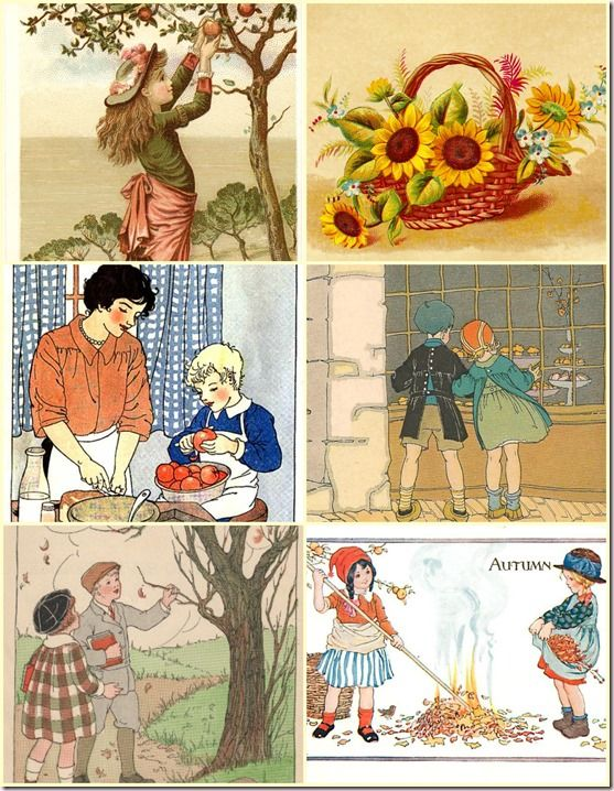 Vintage Fall Clip Art to use for any of your DIY Fall Projects! / Faith Filled Food for Moms.com