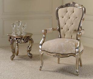53 STP16 zilveren barok tronen armstoel fauteuil troonstoel