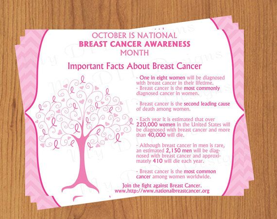 Breast cancer tree flyer download edit template for Breast cancer brochure template free