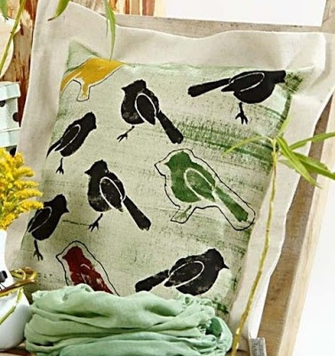 Cushions with Printed Designs