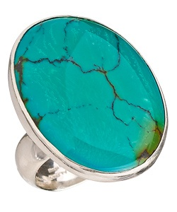 Charles Albert Oval Turquoise Ring