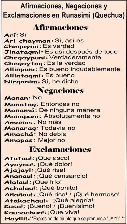 Quechua Language Words 26 best images about L...