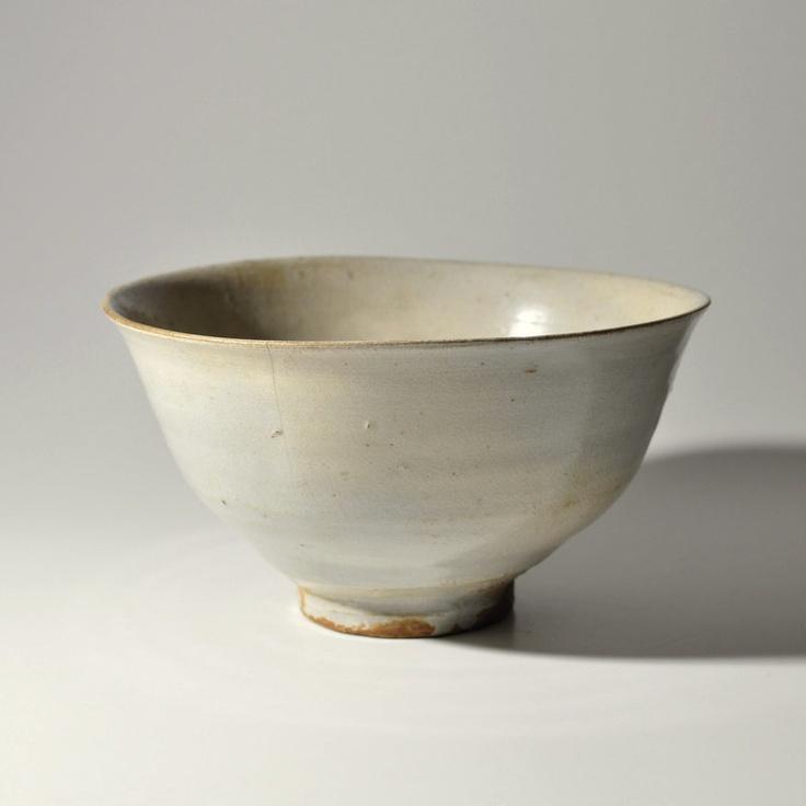 Early Joseon White Glazed Tea Bowl Katade Chawan