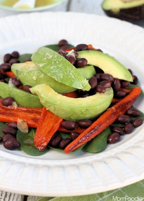 Smokey Roasted Carrot, Avocado and Black Bean Salad Recipe