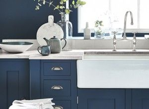 This hits many notes of my dream kitchen, including in-frame cabinets painted in Farrow & Ball Stiffkey blue. http://www.housetohome.co.uk/kitchen/articles/colour-in-the-kitchen-shades-of-blue_532953.html