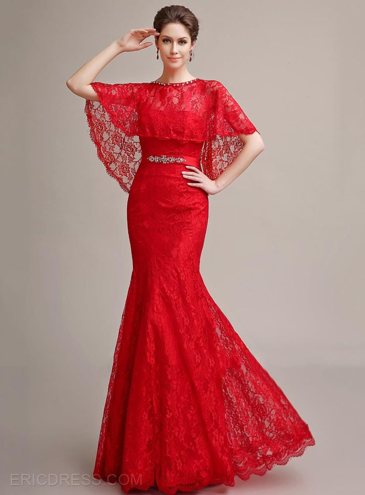 Mermaid Sweetheart Beading Lace Lace-up Long Evening Dress With Jacket/Shawl Evening Dresses 2015- ericdress.com 11246200