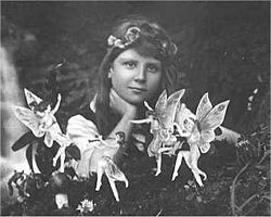 The Cottingley Fairies appear in a series of five photographs taken by Elsie Wright (1901–88) and Frances Griffiths (1907–86), two young cousins who lived in Cottingley, near Bradford in England. In 1917, when the first two photographs were taken, Elsie was 16 years old and Frances was 9. The pictures came to the attention of writer Sir Arthur Conan Doyle, who used them to illustrate an article on fairies he had been commissioned to write for the Christmas 1920 edition of The Strand…