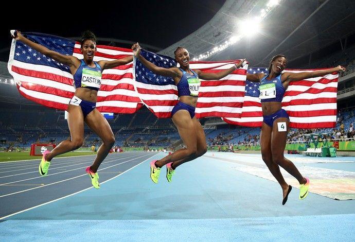 atletismo 100m com barreiras americanas (Foto: Getty Images)