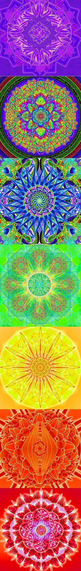 ⊰❁⊱ Mandalas ⊰❁⊱ American Hippie - 7 Chakras Mandala para Curar todos sus Chakras