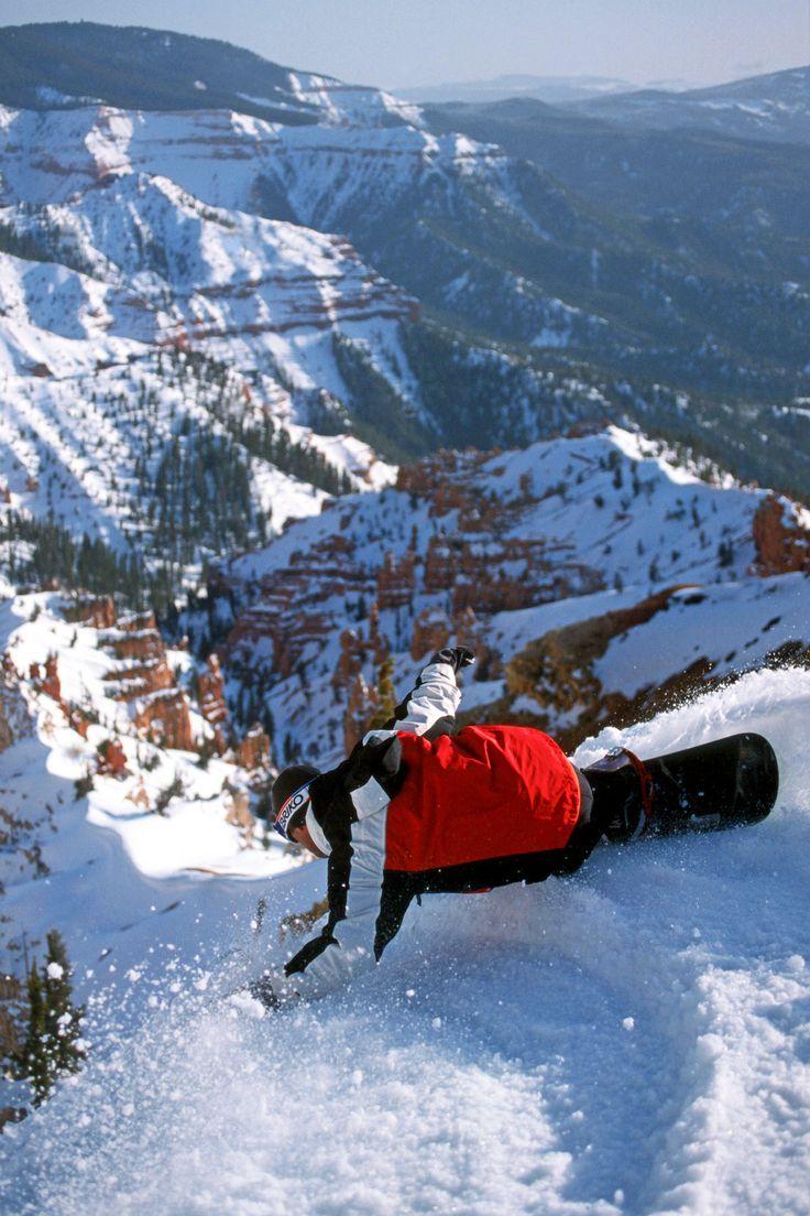 Snowboarding at Brian Head Resort