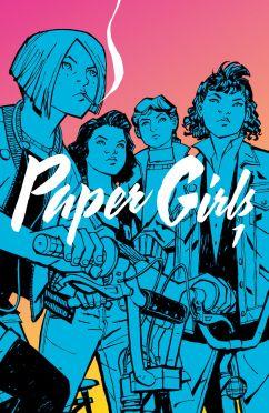 "Brian K. Vaughan (sc.), Cliff Chiang (rys.), ""Paper Girls. Tom 1"", Non Stop Comics, 2017."