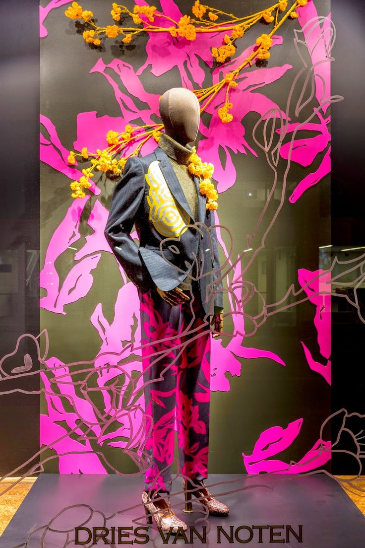 "DRIES VAN NOTEN,""be eccentric now......don't wait till old age to wear purple"", pinned by Ton van der Veer"