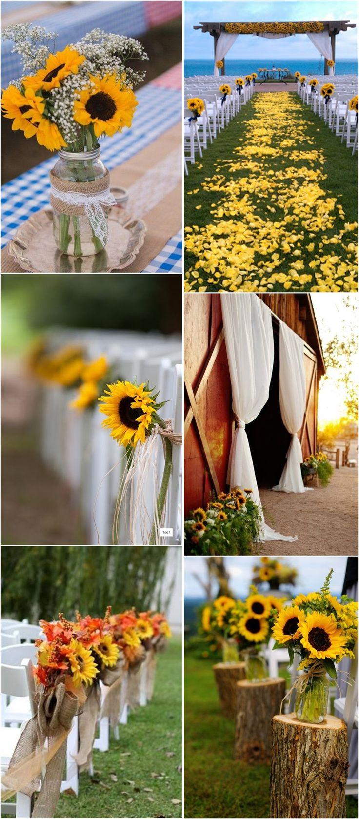 Best 25 Sunflower Wedding Decorations Ideas On Pinterest