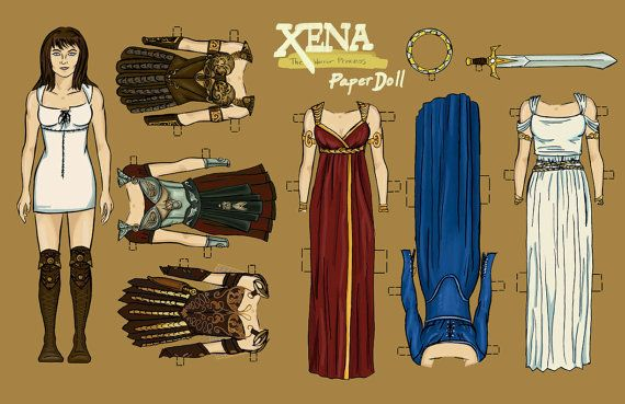 Xena: Warrior Princess Paper Doll by JuliaMichaelArt on Etsy