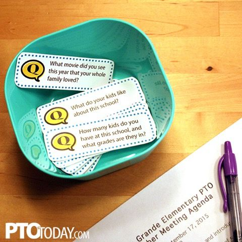 Add these conversation starters to PTO or PTA meetings or other parent gatherings to help get people talking!