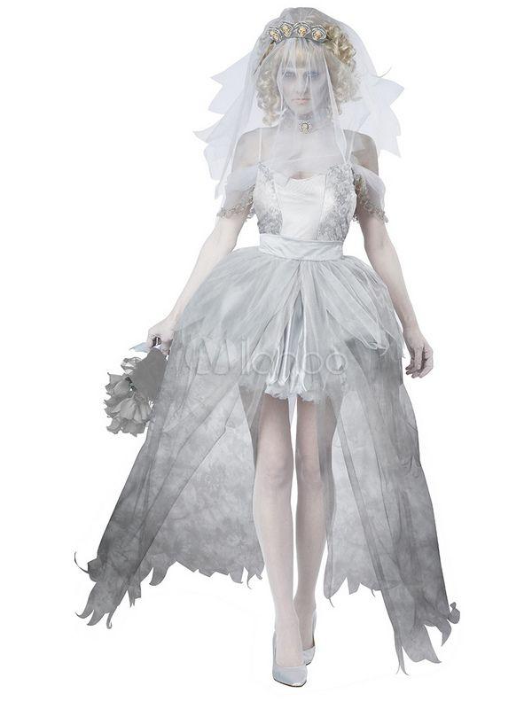 Costume de Corpse Bride gris clair pour femme