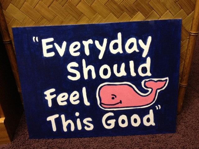 Vineyard vines whale inspired artwork. $15.99, via Etsy.