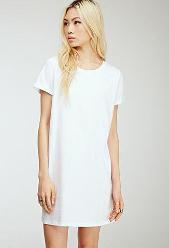 Classic T-Shirt Dress | FOREVER21 - 2000055677 black and white (I'd wear this Spring/Summer/Autumn and maybe winter if I had a car cause it's too cold to walk or wait at the bus stop in)