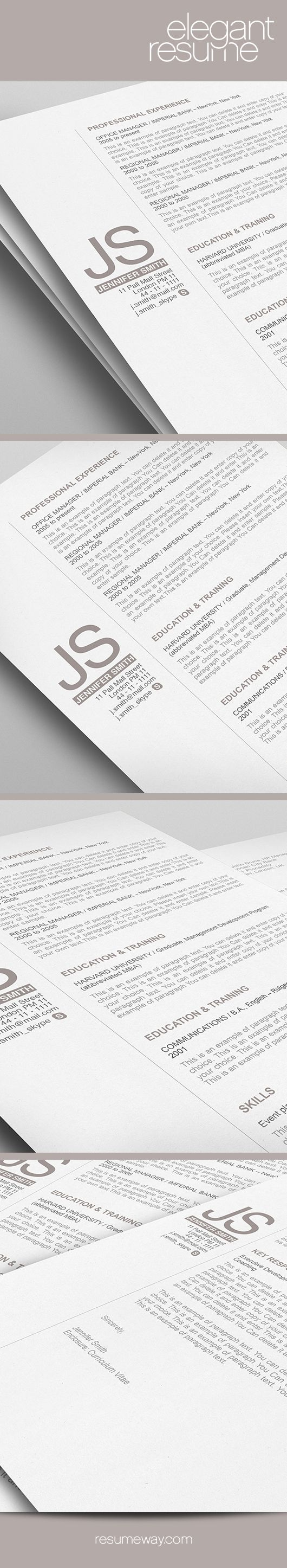 Sample Two Page Resume 71 Best Career Sear€H Images On Pinterest  Resume Templates Cv .